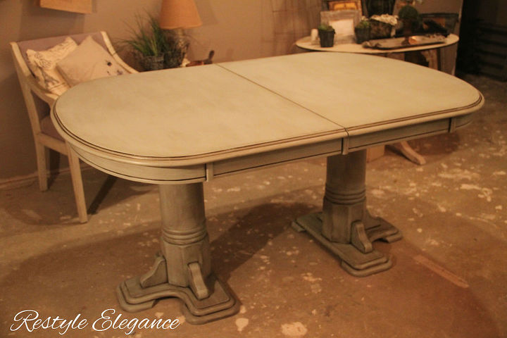 dining table chalk paintrestyle, painted furniture