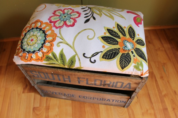 ottoman crate repupose how to, diy, how to, painted furniture, pallet, repurposing upcycling