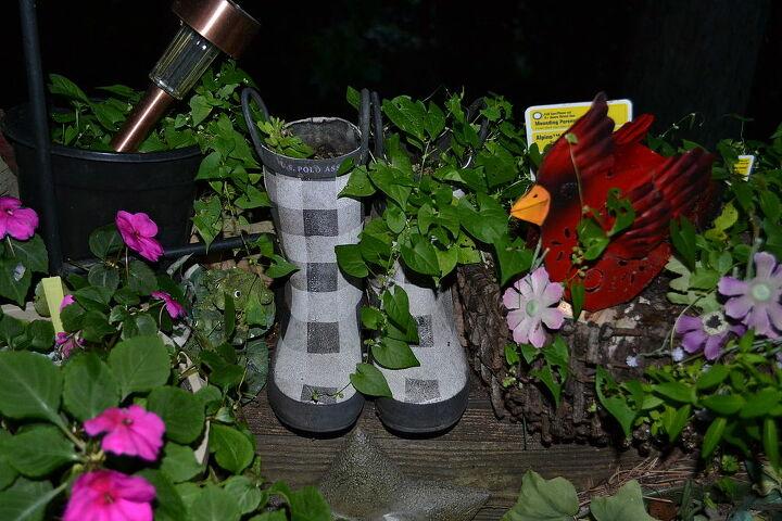 random containers for gardening, container gardening, gardening, repurposing upcycling