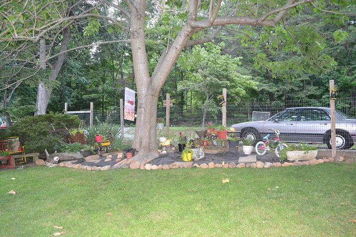 garden flower bed progress country, flowers, gardening, landscape, raised garden beds, repurposing upcycling