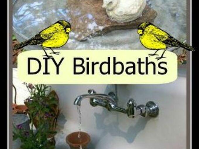 birdbaths garden birds diy, gardening, outdoor living, pets animals, repurposing upcycling, Make your own birdbaths