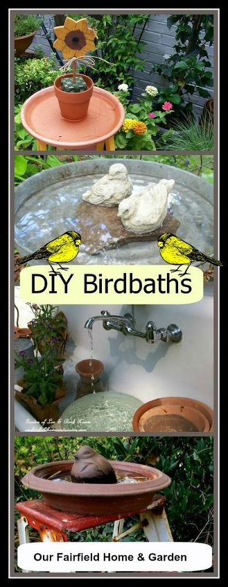 Make your own birdbaths!