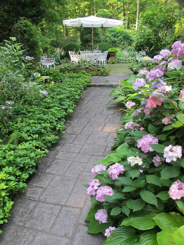 garden mid summer lush green, flowers, gardening, landscape, outdoor living
