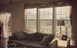 window treatment burlap budget, home decor, living room ideas, reupholster, window treatments, windows