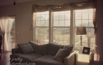 DIY Country Chic Window Treatment for Under $15
