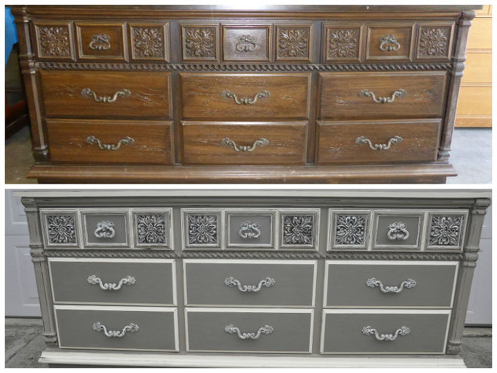 gray furniture paintLowboy Dresser Painted Grey  Hometalk