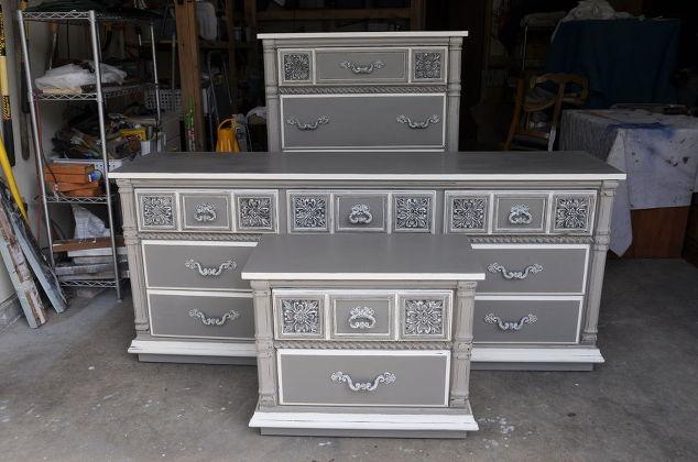 grey painted furnitureLowboy Dresser Painted Grey  Hometalk