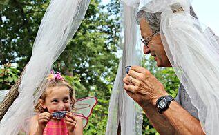 fairy theme garden tea party, gardening, landscape, outdoor living