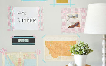 DIY Gallery Wall With Washi Tape