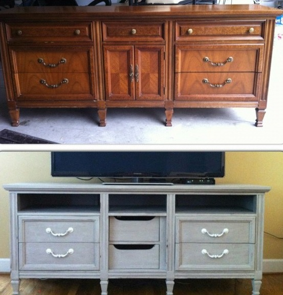 Tv Stand Dresser Upcycle Redo Diy Home Decor Painted Furniture