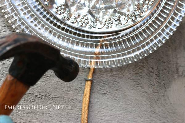 garden art kitchen utensils old dishes, crafts, gardening, outdoor living, repurposing upcycling