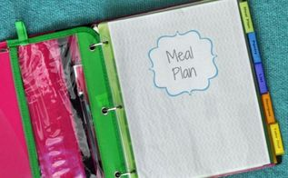 family meal plan binder how to, organizing