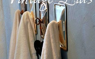 vintage chafing dish lid towel holders, bathroom ideas, organizing, repurposing upcycling, shelving ideas