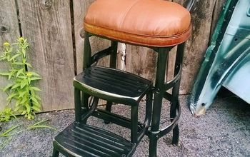 Junk Yard Step Chair Redo