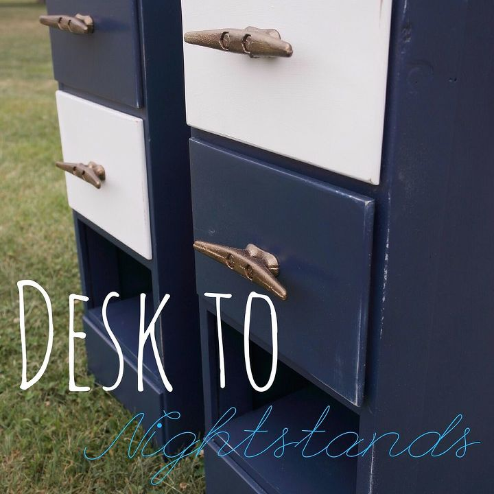 night stands desk upcycle tutorial, painted furniture, repurposing upcycling, woodworking projects