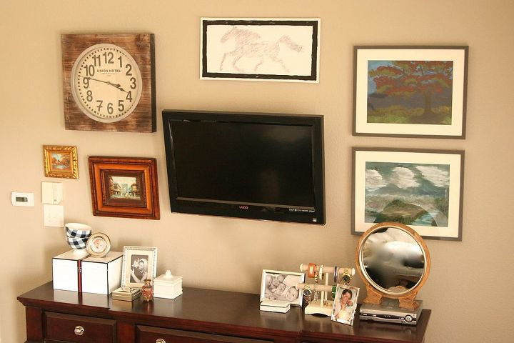 gallery pictures wall tv eclectic, home decor, living room ideas, wall decor