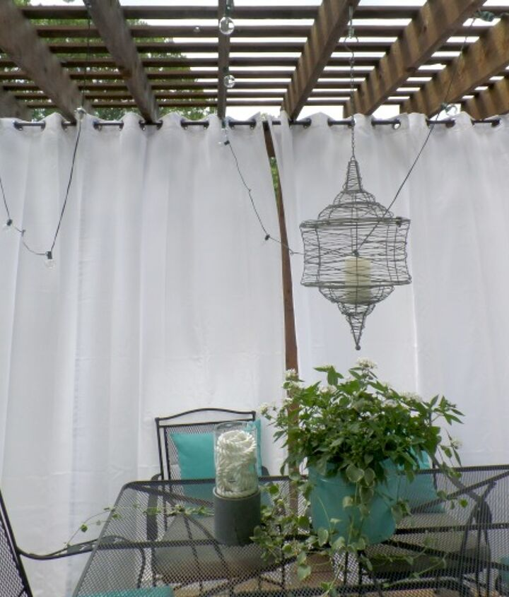 Purchase a curtain rod made for outdoors