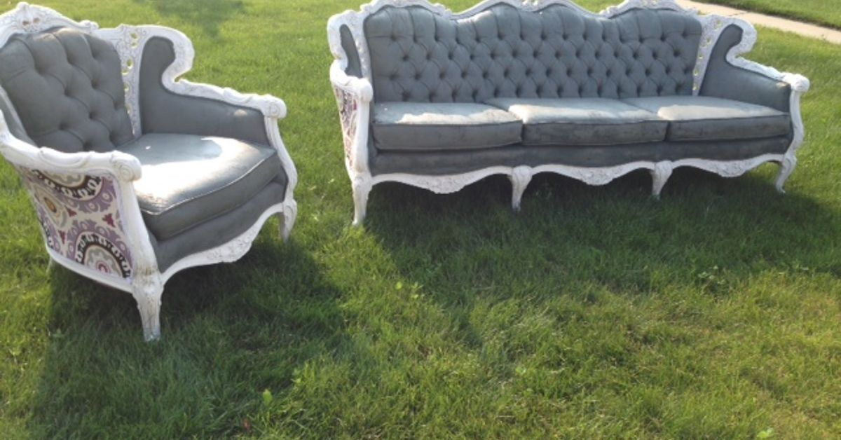 - Painting Antique Couch And Chair Upholstery Hometalk
