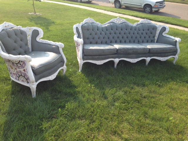 couch chair set paint upholstery antique, painted furniture, repurposing  upcycling - Painting Antique Couch And Chair Upholstery Hometalk