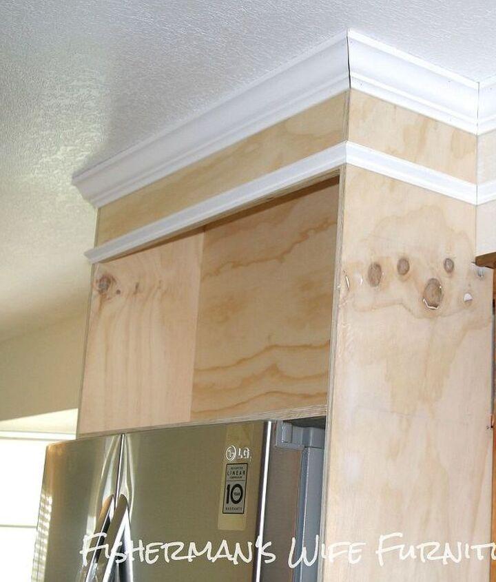 Kitchen Cabinets Around Fridge: Home Built Refrigerator Enclosure