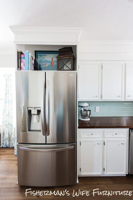 Refrigerator Enclosure Home Built Appliances Diy Kitchen Cabinets Design Woodworking