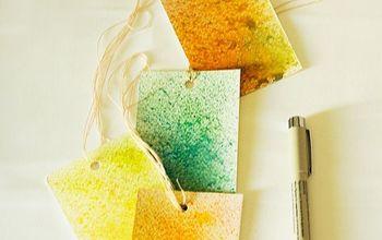 Easy Watercolor Gift Tags DIY