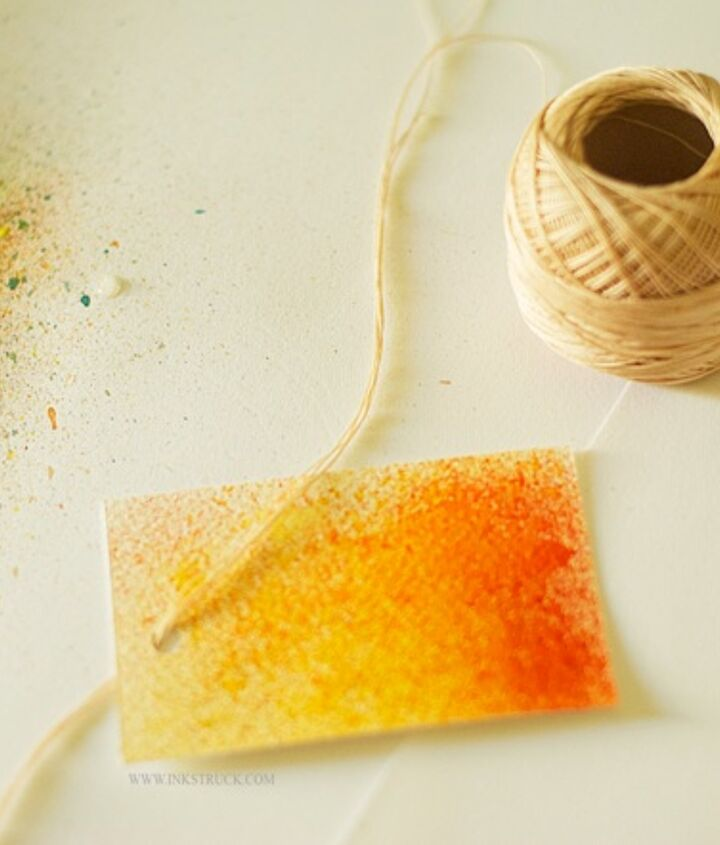 gift tags water color easy, crafts