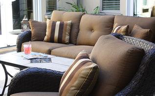courtyard outdoor living decor, home decor, outdoor furniture, outdoor living
