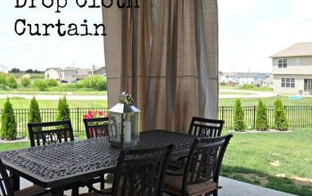 DIY Outdoor Drop Cloth Curtains