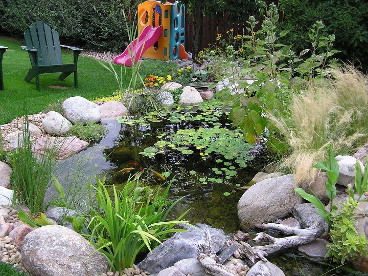 pond backyard addition improvement, diy, gardening, landscape, outdoor living, ponds water features