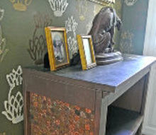 cabinet penny makeover craft, chalkboard paint, foyer, home decor, painted furniture