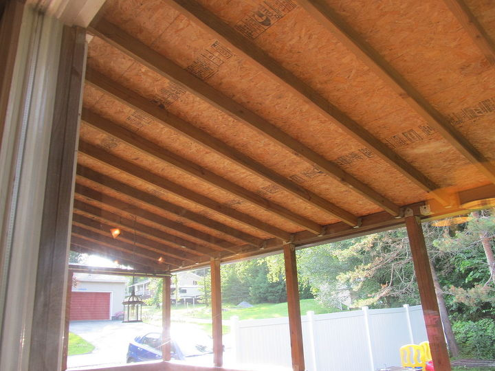 How To Finish Back Porch Ceiling