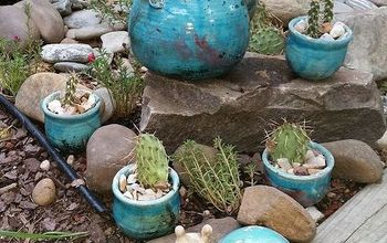 A Teapot and Some Cactus