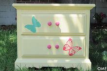 nightstand painting furniture girls, painted furniture