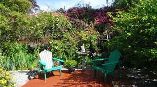 we can t decide on whether to use benches or white table and two chair, decks, outdoor furniture, outdoor living, painted furniture, rustic furniture