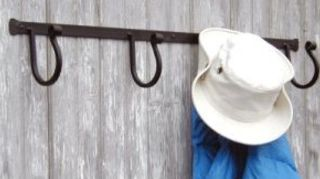q hat rack log cabin mud room, laundry rooms, shelving ideas, storage ideas, northstarwroughtiron com