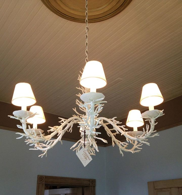 constance crosby interiors showroom, home decor, lighting, French reproduction Coral Chandelier