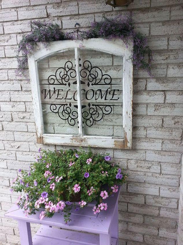 outdoor decor windowpane upcycle, home improvement
