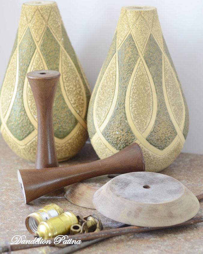 candle holder broken lamp repurpose, chalk paint, crafts, repurposing upcycling