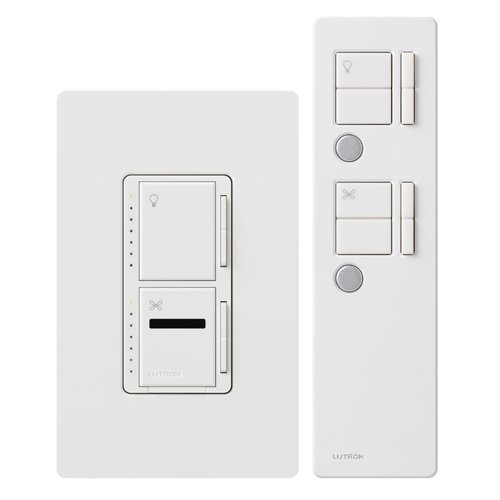 Electricaldifference of 2 lutron ceiling fanlight switch no fan canopy so how does this work differently i turn either light or aloadofball Choice Image