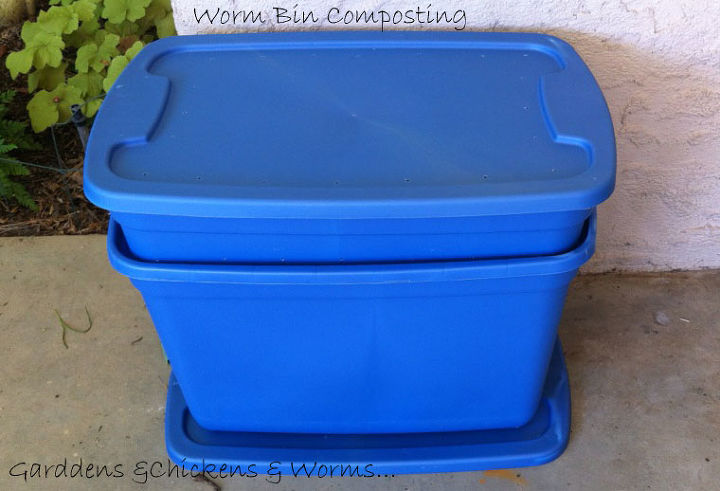 composting worms how to, composting, go green, My easy to make earthworm composting bin