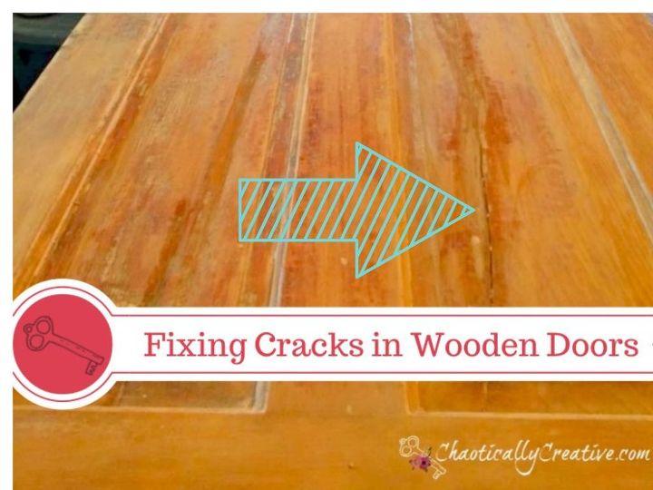 door woodworking repair cracks how to, doors, home maintenance repairs, how to