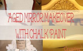 chalk paint mirror makeover, chalk paint, painted furniture, painting, repurposing upcycling