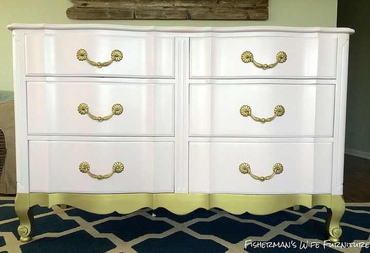 painted furniture dresser pink gold, painted furniture