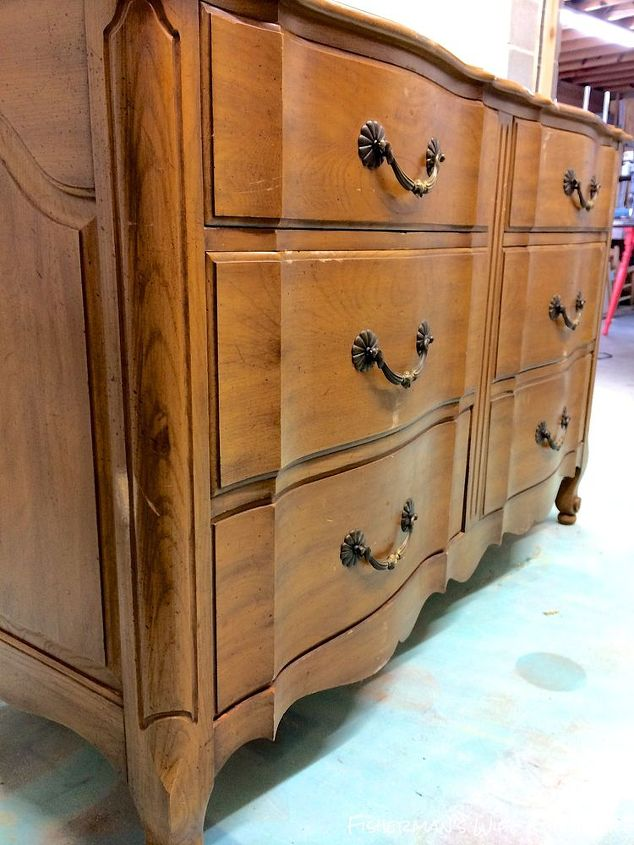 gold painted furniturePink  Gold Dipped Dresser  Hometalk