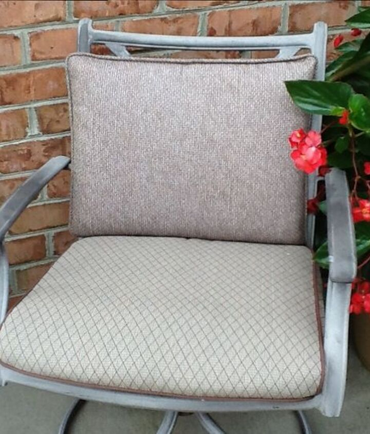 Before picture of chair/cushion