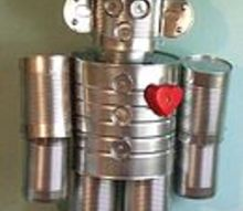 craft tin man upcycle, crafts, gardening, repurposing upcycling, Mr Tin Man