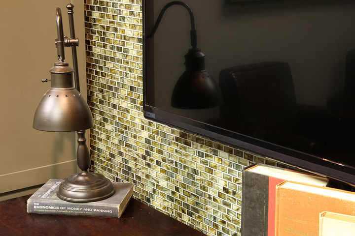 custom wall mosaic tile redo, living room ideas, tiling, wall decor