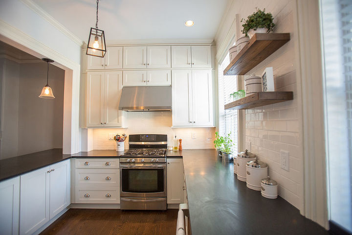 100 year old hoboken townhouse gets kitchen makeover, home improvement, kitchen cabinets, kitchen design, shelving ideas