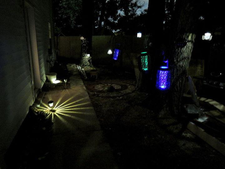 garden decor light veggie steamer upcycle, diy, gardening, lighting, outdoor living, repurposing upcycling